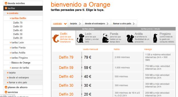 Operadores de móvil Orange