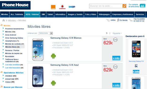 Comprar smartphones libres