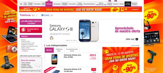 Oferta de móviles Pixmanía