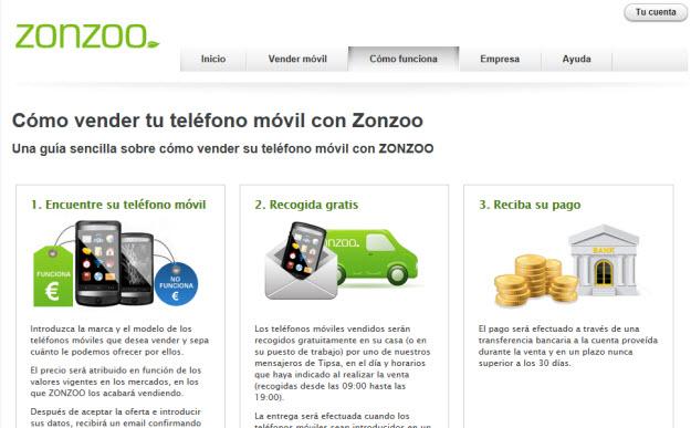 Vender móviles usados en Zonzoo