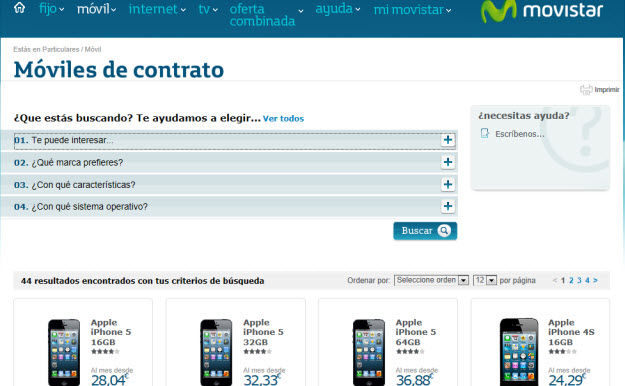 Ofertas móviles Movistar