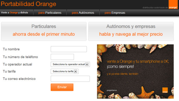 Portabilidad Orange
