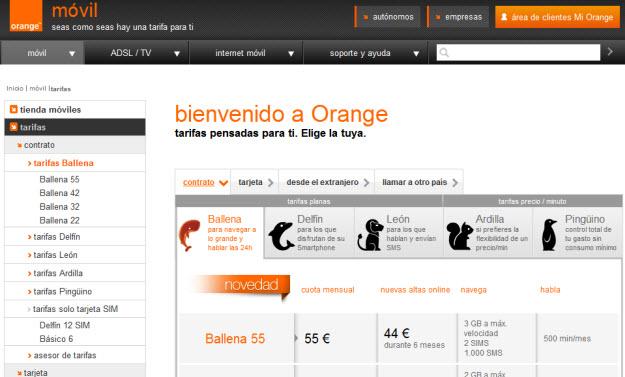Tarifas teléfono Orange