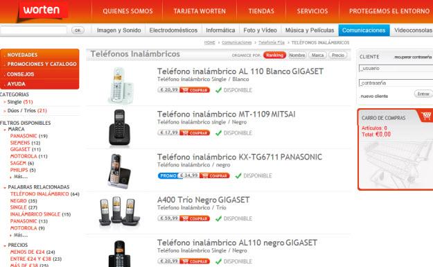 Comprar teléfonos DECT