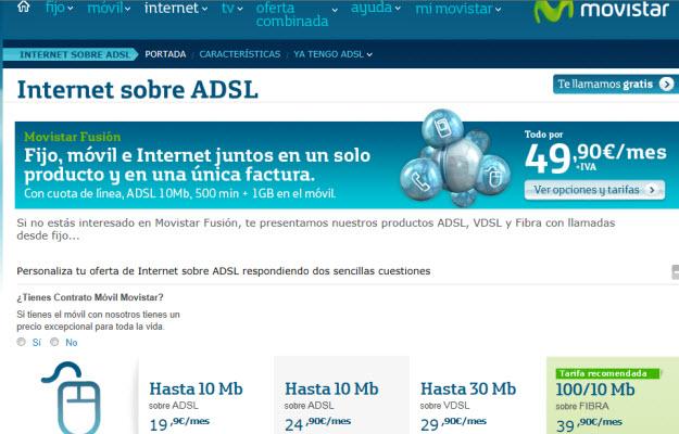 Comparativa de internet fijo en Movistar