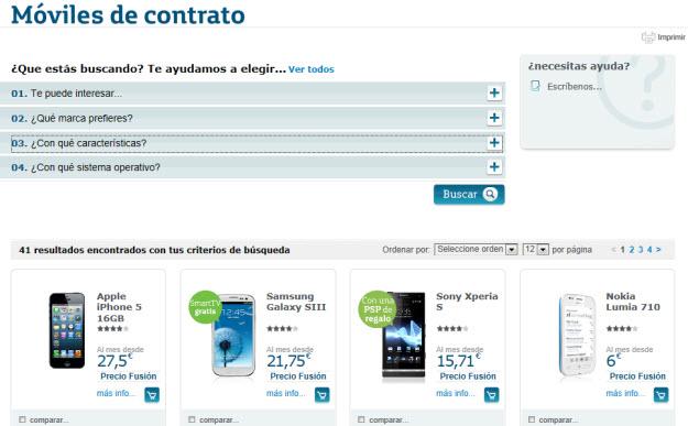 Comprar smartphone de Movistar