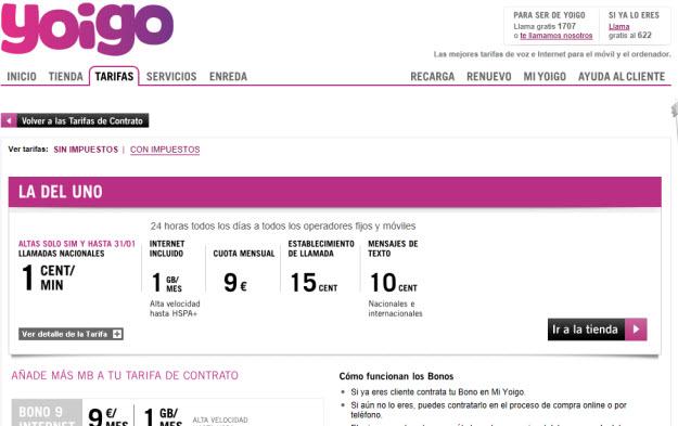 Compañía móvil más barata 2013 Yoigo