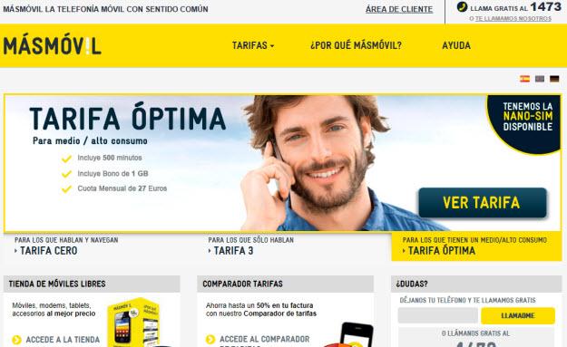 Comparador de telefonía móvil en Masmovil