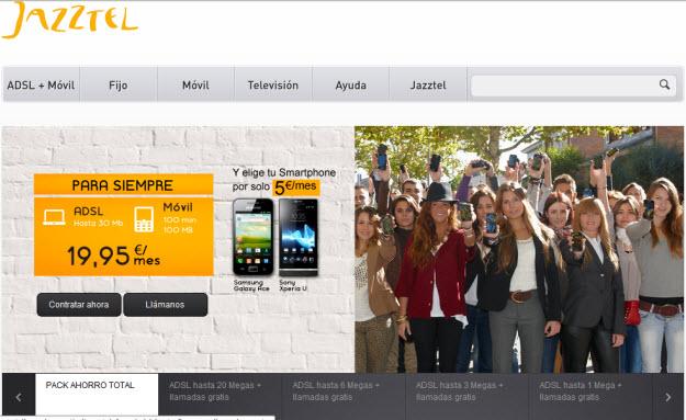 Fijo + ADSL más barato en Jazztel