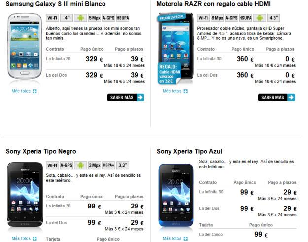 Más ejemplos de móviles por cambiarte a Yoigo
