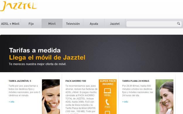 Operador Jazztel móvil