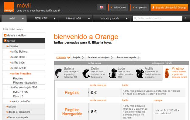 Tarifas de móviles 2013 de Orange