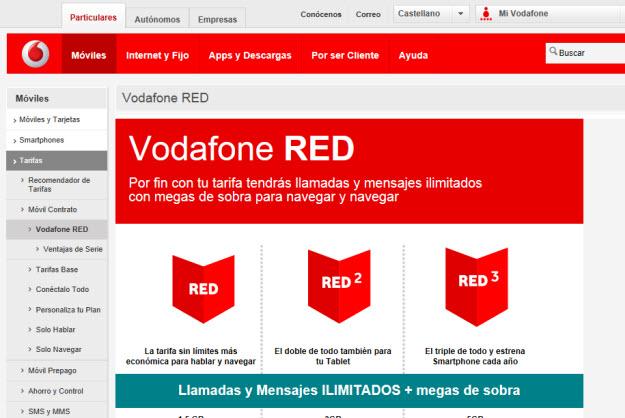 Tarifas de móviles 2013 de Vodafone