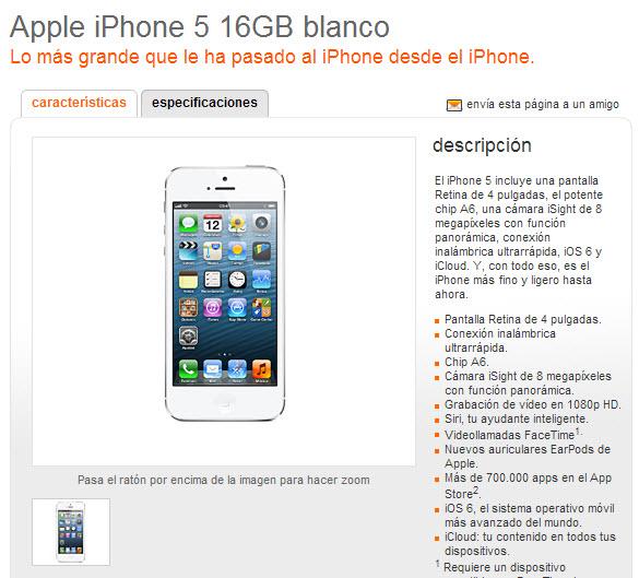 iphone 5 con contrato