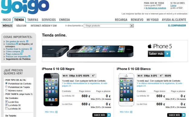 Comparativa móviles