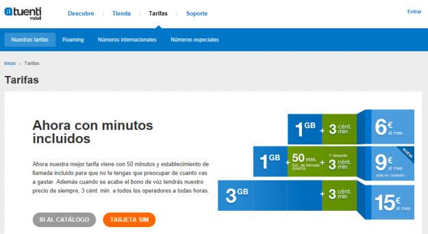 Comparativa tarifas planas móviles 2013 con Tuenti