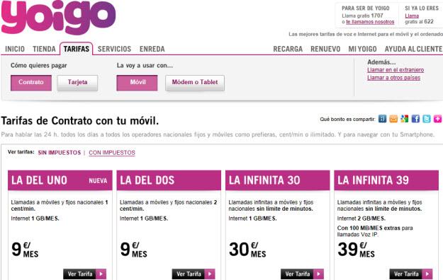 otras seleccionadas como mejores tarifas moviles 2013