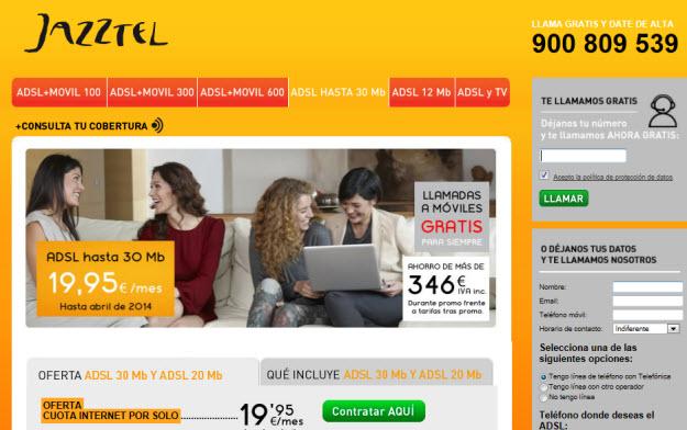 Ofertas ADSL 2013 Jazztel