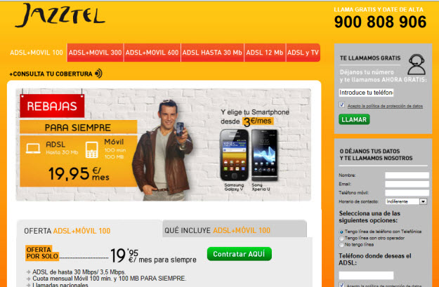 Opiniones sobre el Adsl Orange alternativa Jazztel