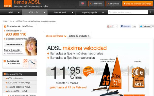 Opiniones sobre el Adsl Orange