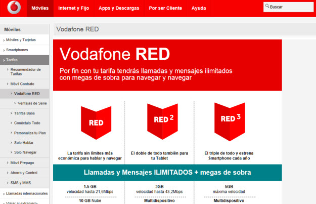 Plan Vodafone RED