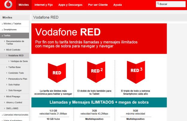 Plan Vodafone RED