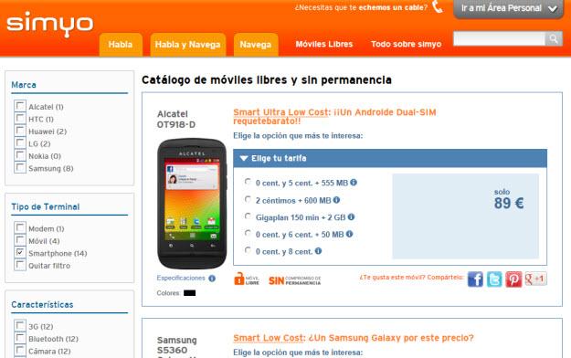 Simyo ofertas de móviles 2013
