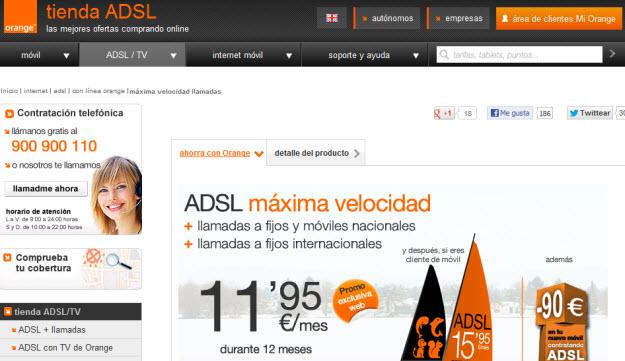 ADSL más llamadas más barato