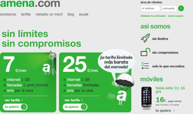 Compañías móviles baratas, Amena