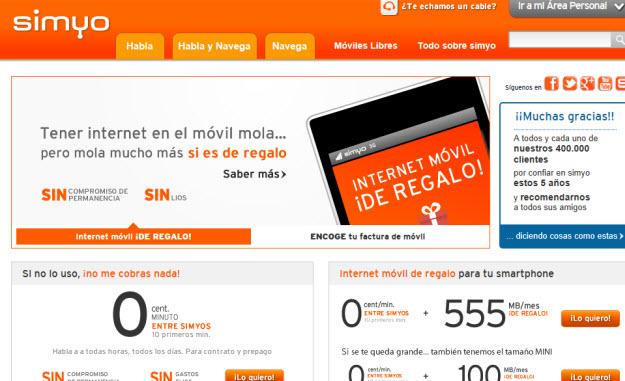 Compañías móviles baratas, Simyo