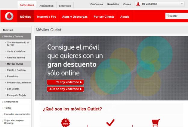 Comparación de móviles en Vodafone
