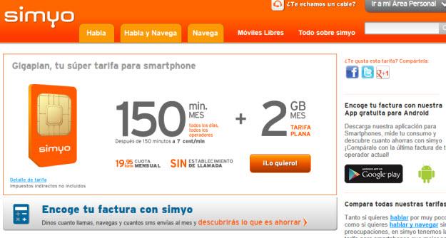 Comparativa ADSL móvil en Simyo