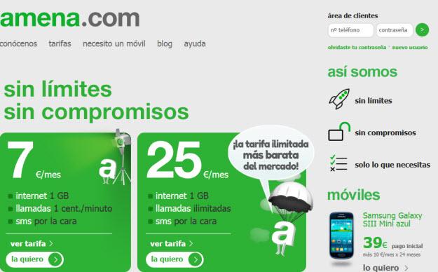 Comparativa ADSL móvil Comparativa ADSL móvil: tarifas Amena vs. tarifas Simyo