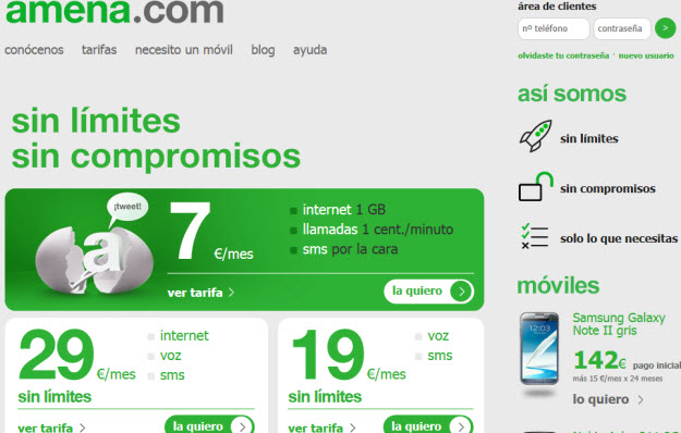 Comparativa de tarifas de móviles