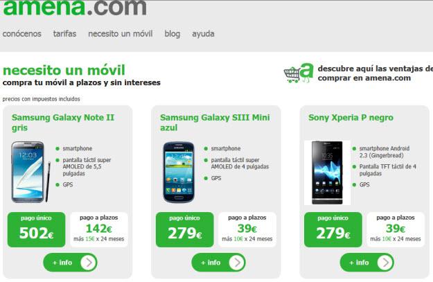 Comparativa móviles 2013