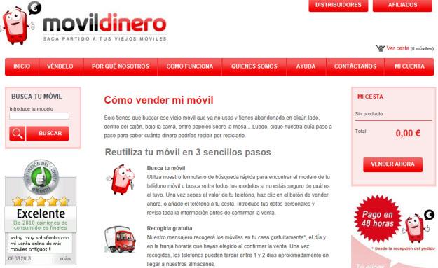 Móviles por dinero en Movildinero
