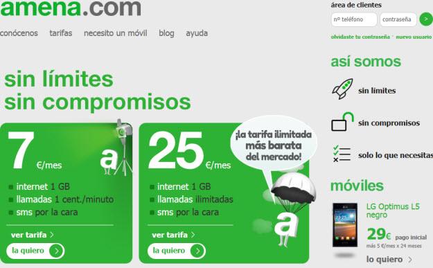 Mejores tarifas móviles con Amena