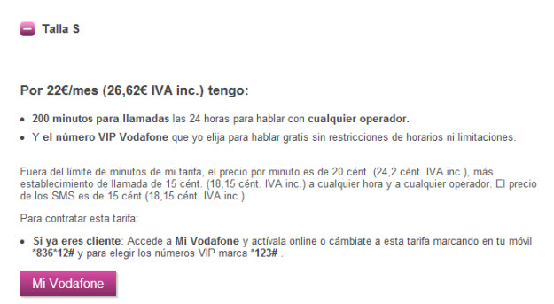Alternativas a la Tarifa M de Vodafone
