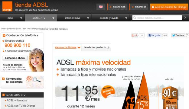 Internet Orange con ADSL