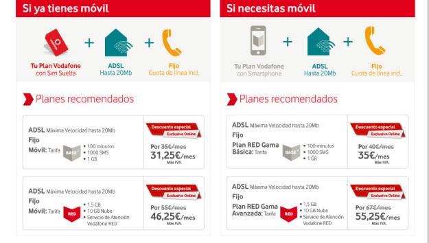 Los planes de Vodafone todo en uno