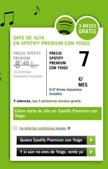 Spotify Premium ahora 3 meses gratis con Yoigo