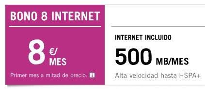 Bono 8 Internet Yoigo, un complemento perfecto a tu tarifa de voz