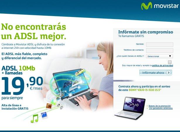 Contratar adsl de calidad con Movistar