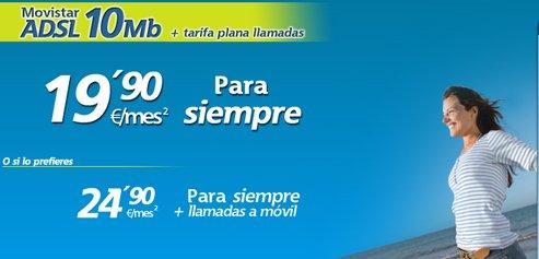 Aprovacha la oferta ADSL 10MB de Movistar