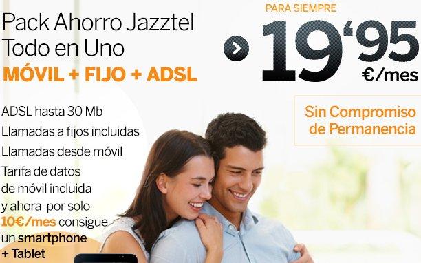 Descubre la promoción Jazztel: Internet ADSL, telefonía móvil y fija integrada