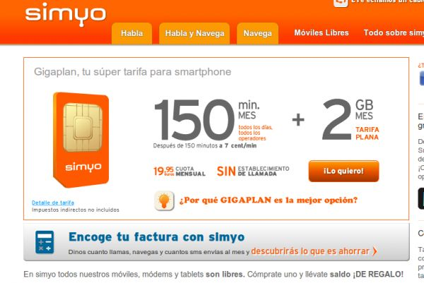 Las mejores tarifas de móvil de Simyo
