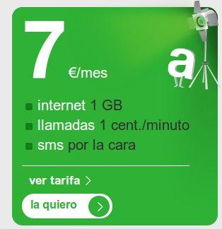 Internet y voz con la Tarifa 7 de Amena