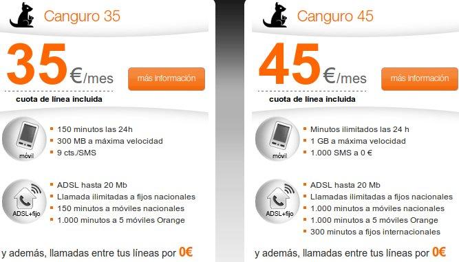 Tarifa Canguro Orange 45