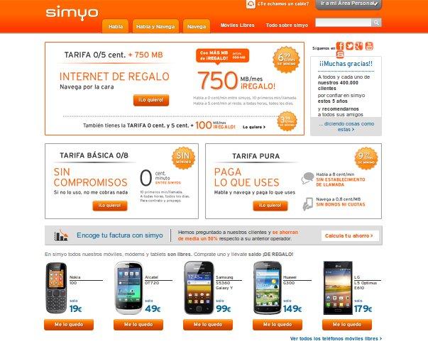 Simyo o Pepephone: las ventajas de las tarifas Simyo