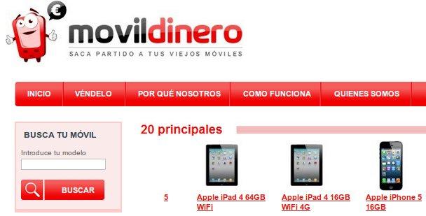 Vender tus móviles usados en Movil Dinero